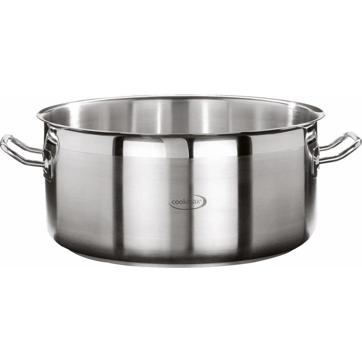 "Bratentopf flach ""Cookmax Professional"" Ø 36 cm, H: 17 cm. Inhalt 17,3L"