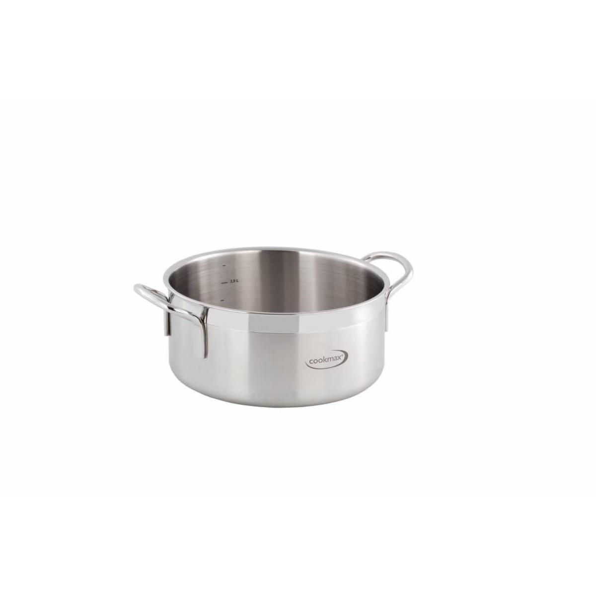 "Bratentopf flach ""Cookmax Gourmet"" Ø 36 cm, H: 17 cm. Inhalt 17,3L"