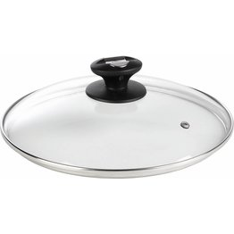 Glas-Deckel mit Dampfloch 28cm