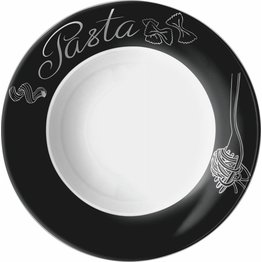 """Pastateller """"Black-Silver"""" Ø 26,5 cm, rund"""