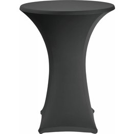 Stehtischbezug Ø 70 cm schwarz