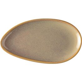 "Porzellanserie ""Vida"" Platte flach oval 17,8cm"