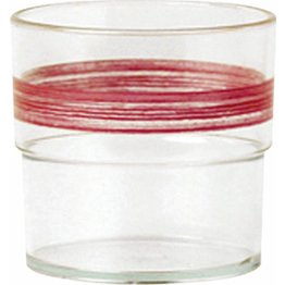"Trinkbecher ""Colour"" 0,23L SAN klar/cherry-rot"