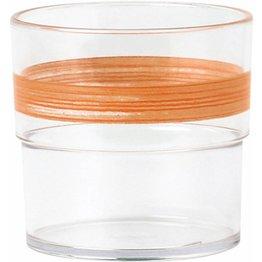 "Trinkbecher ""Colour"" 0,23L SAN klar/orange"