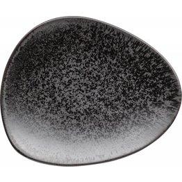 """Porzellanserie """"Ebony"""" Teller flach 19x16cm - NEU"""