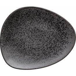 """Porzellanserie """"Ebony"""" Teller flach 30,6x26cm - NEU"""