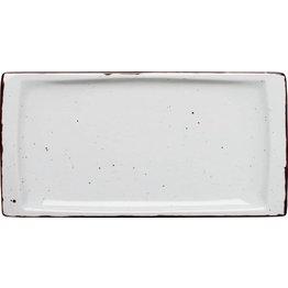 """Porzellanserie """"Granja"""" weiß Platte flach eckig, 18x36 cm"""