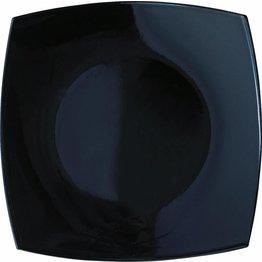 "Hartglasgeschirr ""Quadrato"" schwarz Teller 27x27 cm"