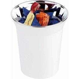 Tischabfallbehälter/Besteckbehälter weiß
