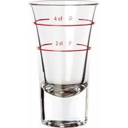 Schnapsglas 2 cl + 4 cl