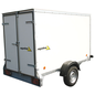 AGADOS VZ 30 KB - 1300 kg Remorque caisson haute en plywood pour un transport en toute sécurité