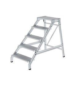 Aluminium werkplatform, aluminium treden, 1x5