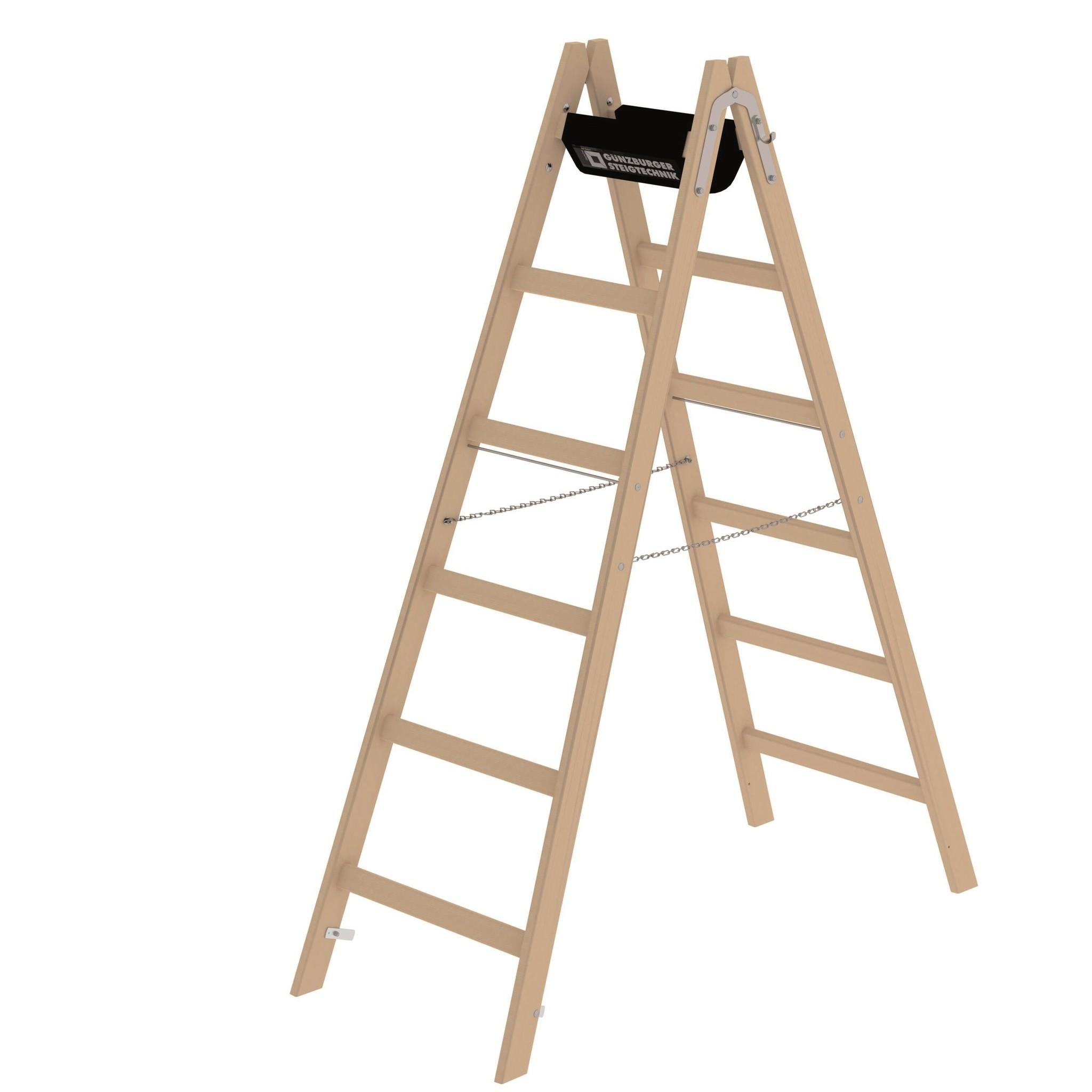 Houten dubbele ladders