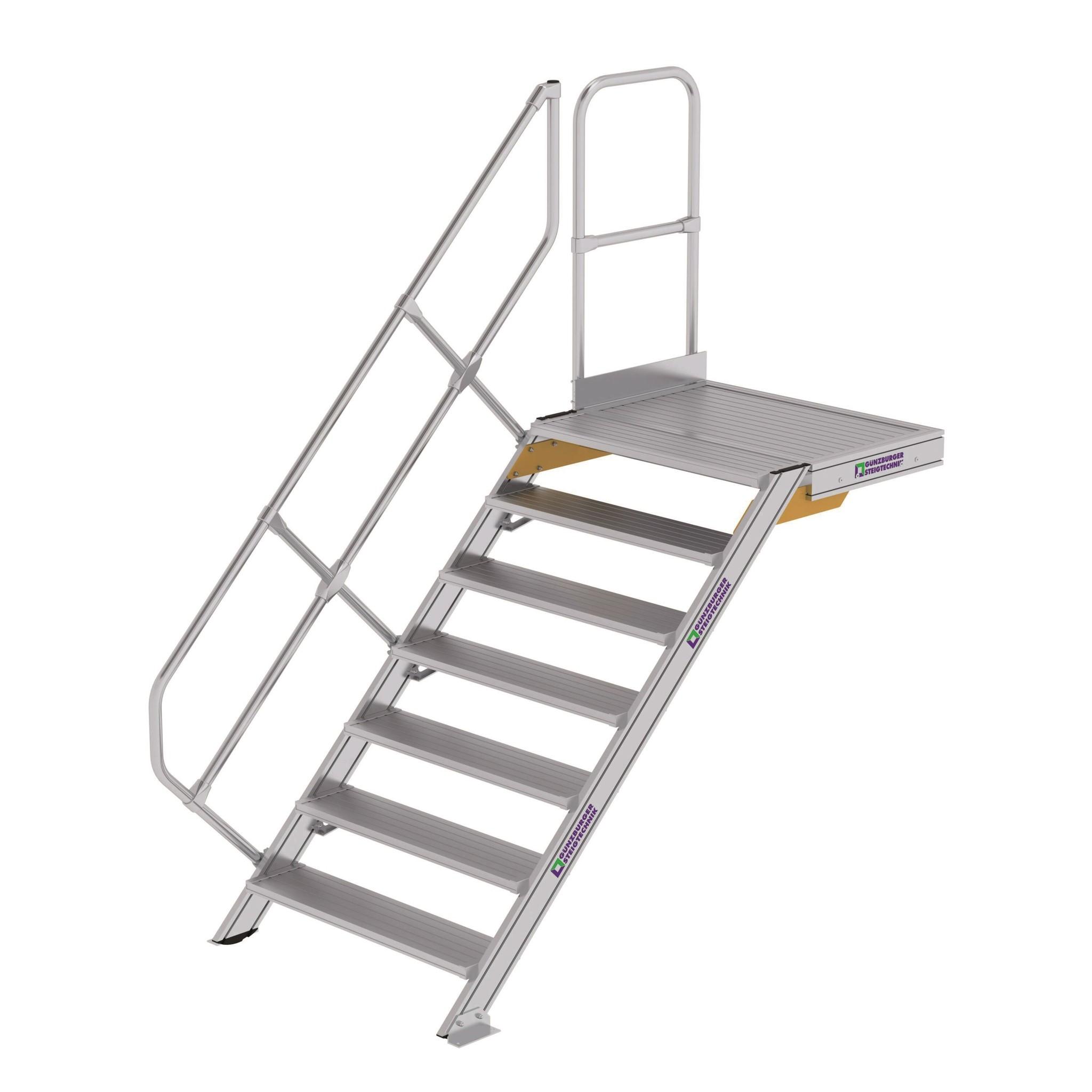 Vaste trappen 45° met platform