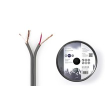 Gebalanceerde Audiokabel op Rol 2x 0,16 mm 100 meter Grijs