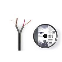 Audiokabel op Rol - Gebalanceerd - 2x 0,16 mm 100 meter Grijs