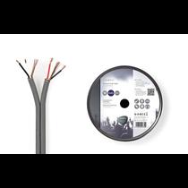 Gebalanceerde Audiokabel op Rol  2x (2x 0,16 mm) 100 meter Grijs