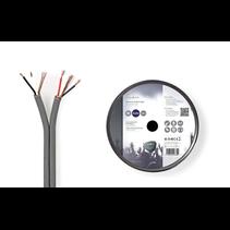 Audiokabel op Rol - Gebalanceerd -  2x (2x 0,16 mm) 100 meter Grijs