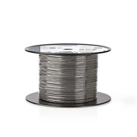 Nedis Dr. Audiokabel op Rol - Gebalanceerd -  2x (2x 0,16 mm) 100 meter Grijs
