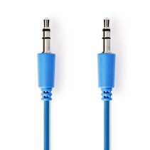 Jack 3.5 mm kabel - Audio Stereo AUX kabel Blauw 1 meter