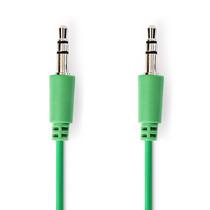 1 meter   Stereo audiokabel   3,5 mm male - 3,5 mm male   Groen