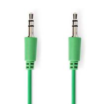 1 meter | Stereo audiokabel | 3,5 mm male - 3,5 mm male | Groen