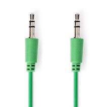 Jack 3.5 mm kabel - Audio Stereo AUX kabel Groen 1 meter