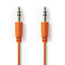 Jack AUX 3.5 mm Audio Stereo kabel Oranje 1 meter