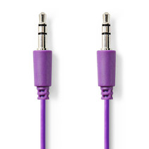 Jack 3.5 mm kabel - Audio Stereo AUX kabel Paars 1 meter