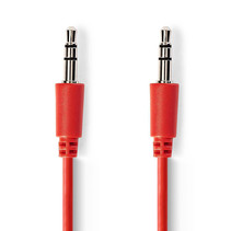Jack 3.5 mm kabel - Audio Stereo AUX kabel Rood 1 meter
