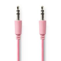 1 meter   Stereo audiokabel   3,5 mm male - 3,5 mm male   Roze