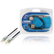 0.5 Meter Stereo Audiokabel 3.5 mm Male - 3.5 mm Male Blauw (Professioneel)