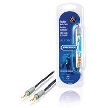 5 Meter Stereo Audiokabel 3.5 mm Male - 3.5 mm Male Blauw (Professioneel)