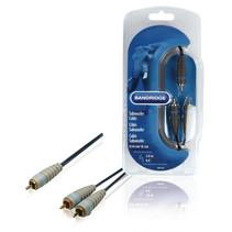 Subwoofer kabel - Subwoofer verdeelkabel Tulp RCA naar 2x Tulp RCA 1 meter