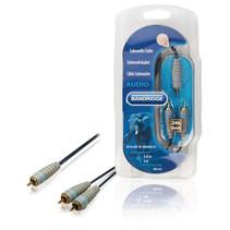 Subwoofer kabel - Subwoofer verdeelkabel Tulp RCA naar 2x Tulp RCA 3 meter