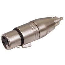 XLR-Adapter RCA Male - XLR 3-Pins Female Zilver
