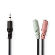 Hoofdtelefoon - microfoon splitter kabel - Jack 3.5 mm 4 polig