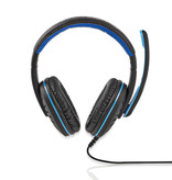 Nedis Gamingheadset | Over-ear | Microfoon | 3,5 mm connectoren
