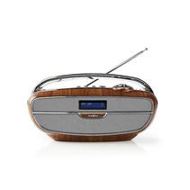 Digitale DAB+ radio | 60 W | FM | Bluetooth® | Bruin / zilver