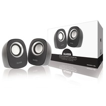 Speaker 2.0 Bedraad 4 W Zwart/Zilver