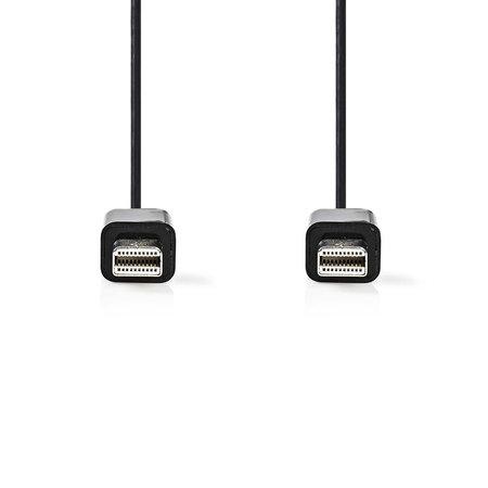 Nedis Dr. Mini-DisplayPort-Kabel Mini-DisplayPort Male - Mini-DisplayPort Male 1,0 meter Zwart