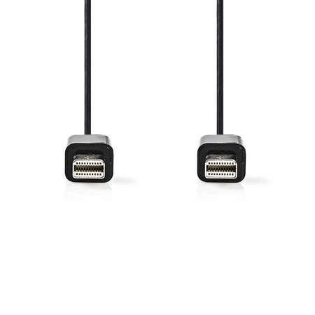 Nedis Mini-DisplayPort-Kabel Mini-DisplayPort Male - Mini-DisplayPort Male 1,0 meter Zwart