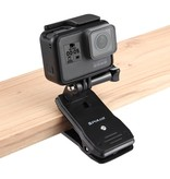 360 Graden rotatie klem voor GoPro en overige action camera's