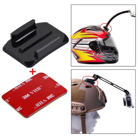 Puluz 3M Stickers + Mount voor GoPro - Action Camera's - 2x Curved