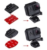 3M Stickers + Mount voor GoPro - Action Camera's - 2x Curved + 2x Flat