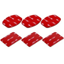 3M Stickers voor GoPro - Action Camera's 3x Flat en 3x Curved
