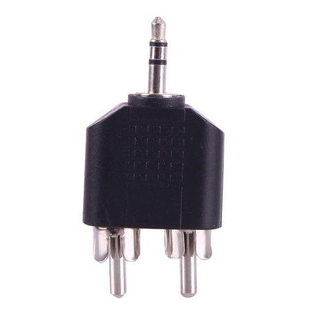 Nedis Jack 3.5 mm stereo - 2x RCA Tulp Male plug adapter