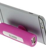 SWEEX Powerbank Lader Roze 2500 mAh inclusief Kabel