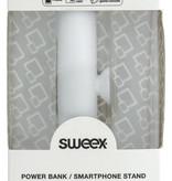 SWEEX Powerbank Lader Wit 2500 mAh inclusief Kabel