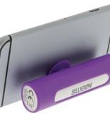 SWEEX Powerbank Lader Paars 2500 mAh inclusief Kabel